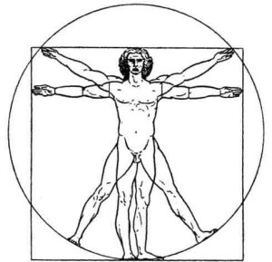 Vitruvian Man by Leonardo da Vinci (edited by anonymous)