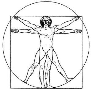 Vitruvian Man by Leonardo da Vinci (edited by anonymous)