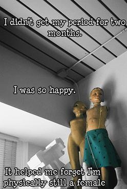 """""""У меня два месяца подряд не было месячных. Какое это было счастье! Это позволило мне на время забыть, что мое тело пока еще женское""""."""