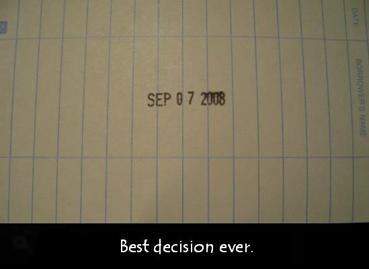 """""""7 сентября 2008. Лучшее решение в жизни""""."""